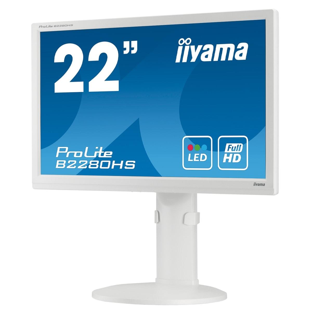 "Iiyama 22""  B2280HS-W1 - Ecran PC Iiyama - Cybertek.fr - 1"