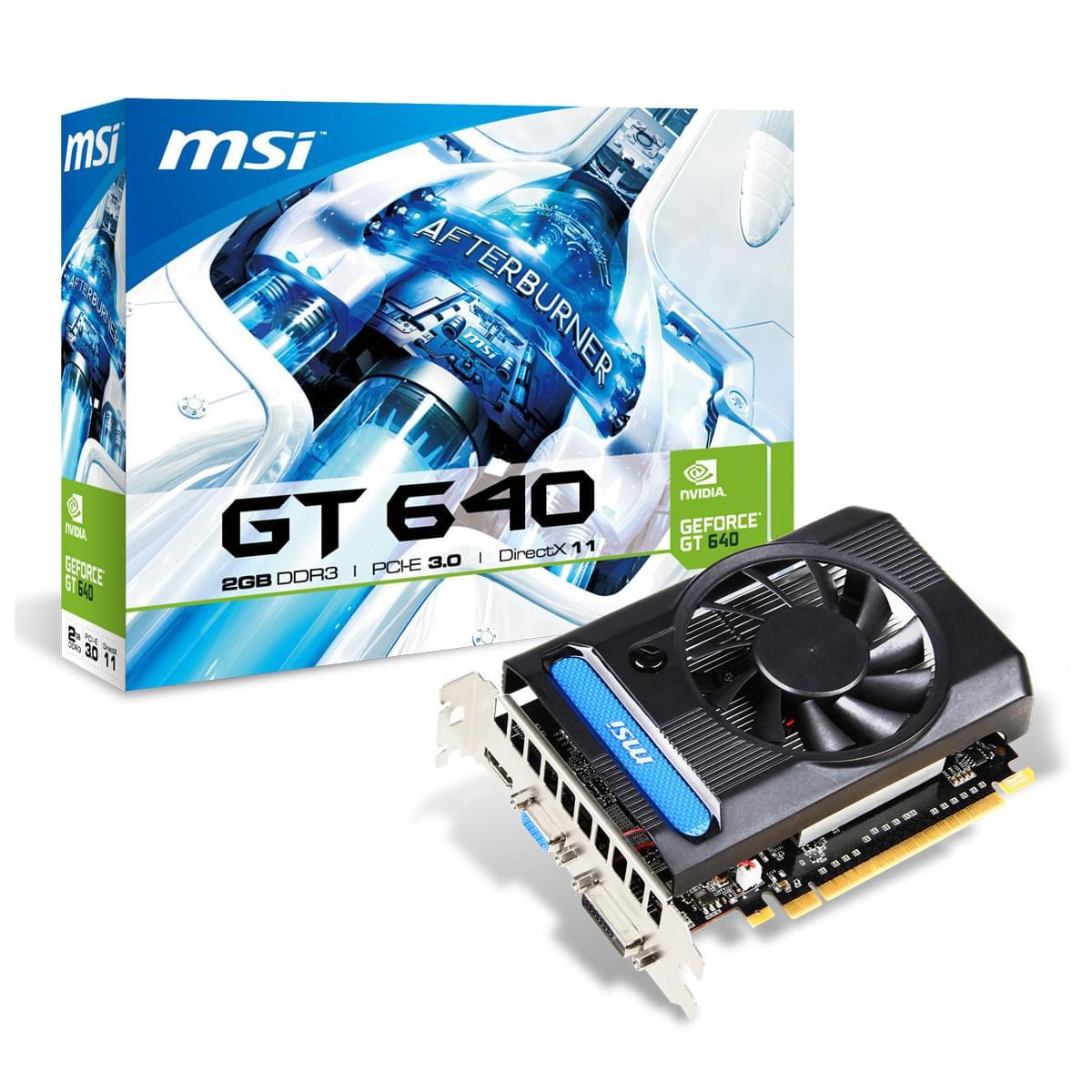 MSI  - 2Go - carte Graphique PC - GPU nVidia - 0
