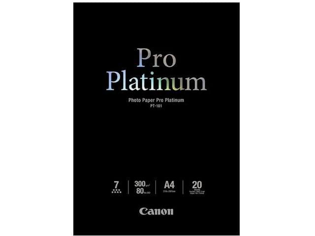Canon Papier Pro Platinum Photo A4 20f. PT-101 -2768B016 (2768B016) - Achat / Vente Papier Imprimante sur Cybertek.fr - 0