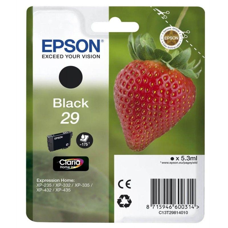 Epson Cartouche Fraise Encre Claria Home Noir N°29  (C13T29814010) - Achat / Vente Consommable Imprimante sur Cybertek.fr - 0