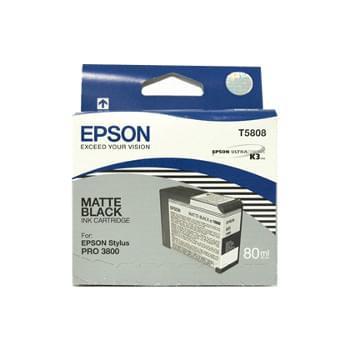 Cartouche Noir Mat T580800 pour imprimante Jet d'encre Epson - 0
