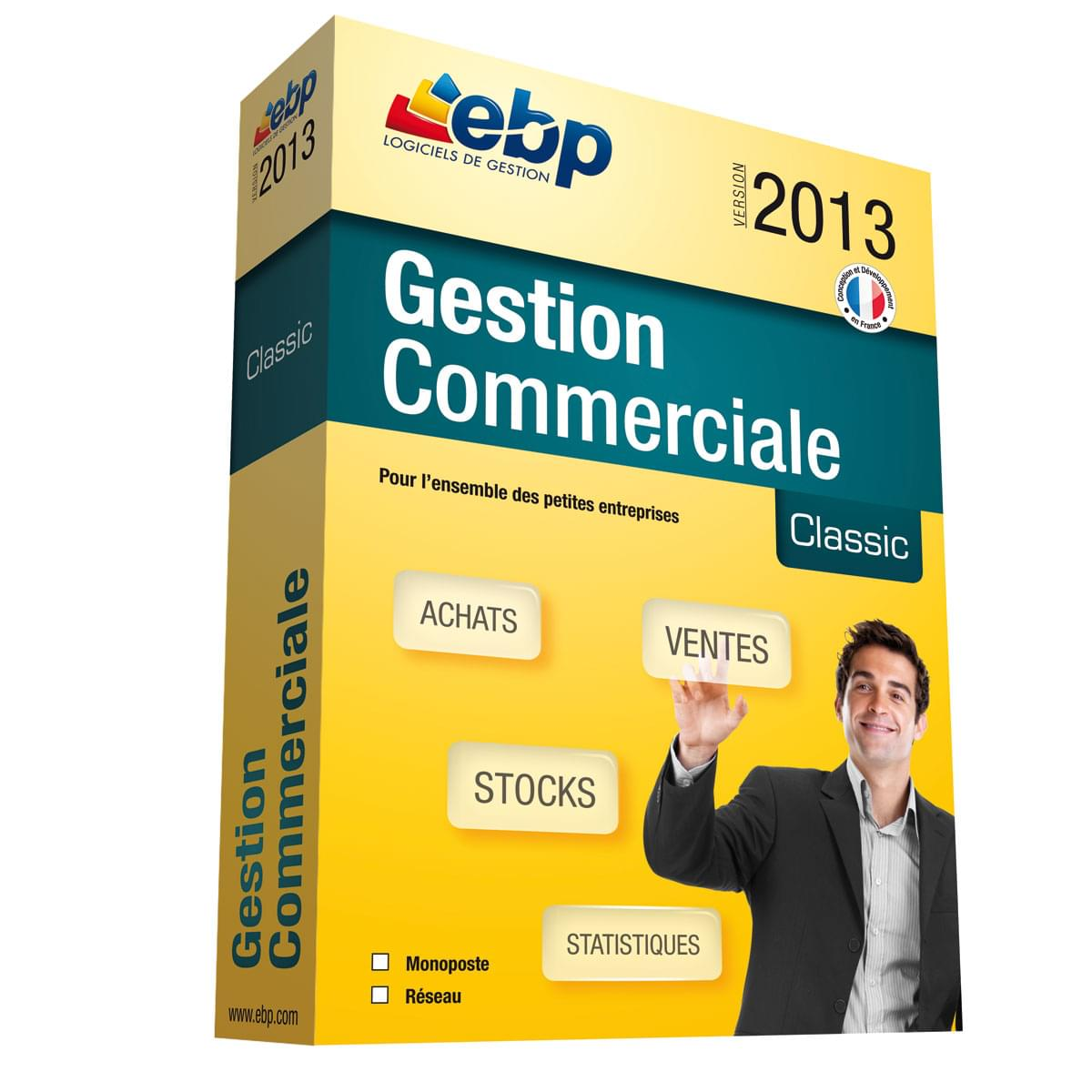 EBP Gestion Commerciale Classic 2013 (1019J050FAA) - Achat / Vente Logiciel Application sur Cybertek.fr - 0