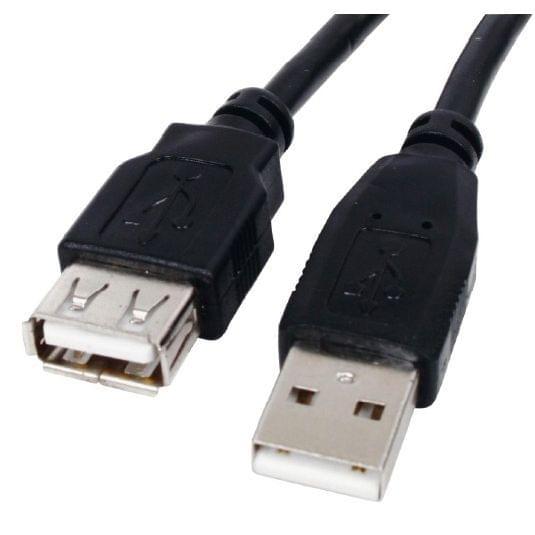 Câble USB2.0 rallonge Mâle-Femelle - 3m - Connectique PC - 0