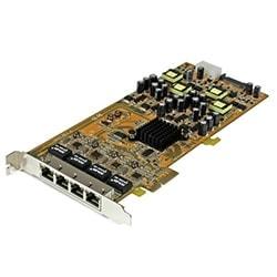 StarTech Carte Réseau PCI-e x4 - 4 ports gigabit PoE - ST4000PEXPSE  Cybertek