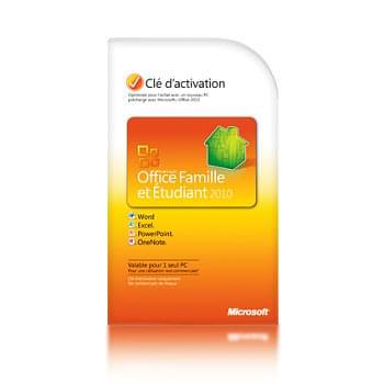 Microsoft Office Famille/Etudiant 2010 COEM (79G-02023) - Achat / Vente Logiciel suite bureautique sur Cybertek.fr - 0