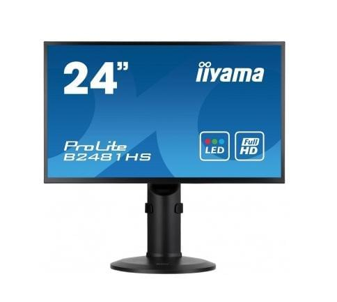 "Iiyama B2481HS-B1 23,6"" LED/2ms/HDMI/SLIM/Black/Alim.vesa (B2481HS-B1) - Achat / Vente Ecran PC sur Cybertek.fr - 0"