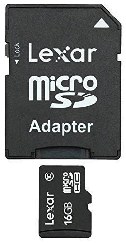 Lexar Micro SDHC 16Go class 10 + Adapt. - Carte mémoire Lexar - 0