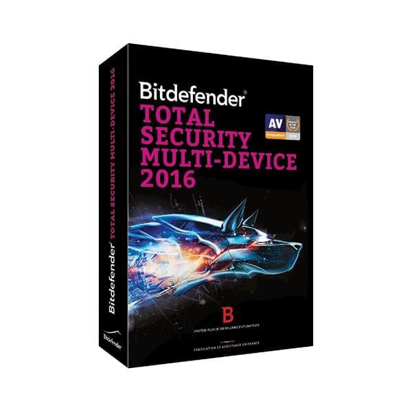 Bitdefender Total Security 2016 - 2 Ans / 5 PC - Logiciel sécurité - 0
