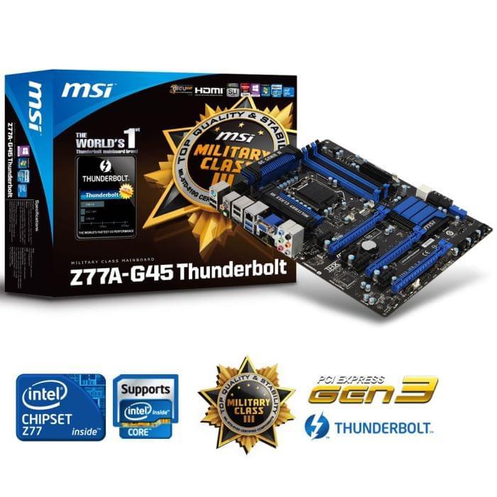 Carte mère MSI Z77A-G45 Thunderbolt - 0