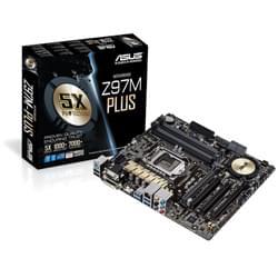 Asus Carte Mère Z97M-PLUS - Z97/LGA1150/DDR3/2xPCI-E/mATX Cybertek