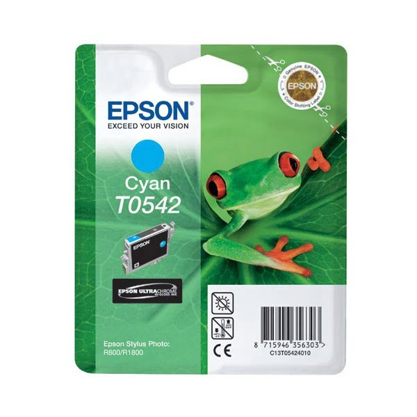 Cartouche T0542 Stylus R800 Cyan pour imprimante Jet d'encre Epson - 0