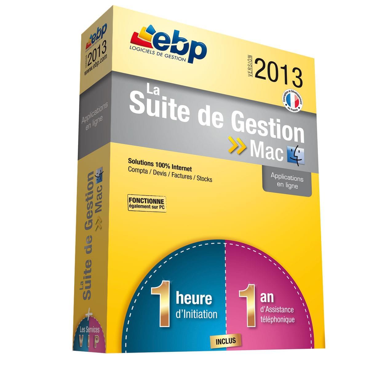 EBP La Suite de Gestion MAC 2013 + Services VIP (9171A000FAC) - Achat / Vente Logiciel Application sur Cybertek.fr - 0