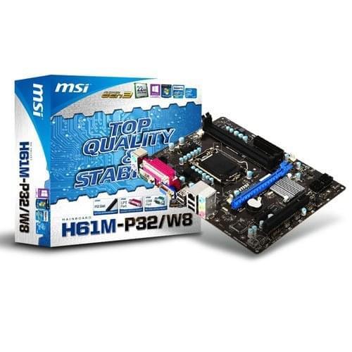MSI H61M-P32/W8 (H61M-P32/W8) - Achat / Vente Carte mère sur Cybertek.fr - 0