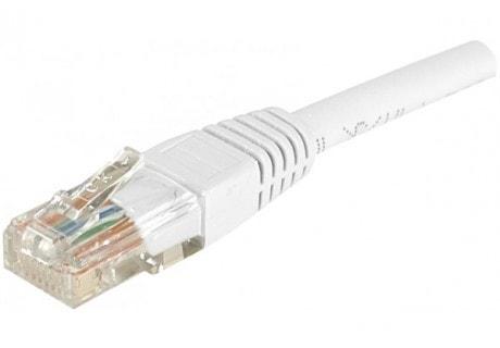 Cordon RJ45 Cat.5e 10m U/UTP Blanc - Connectique réseau - 0