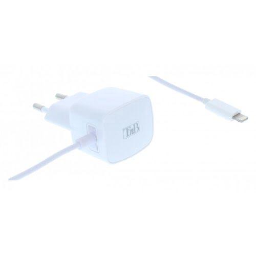 Chargeur Secteur USB 1A + Cable Lightning - Accessoire téléphonie T'nB - 0