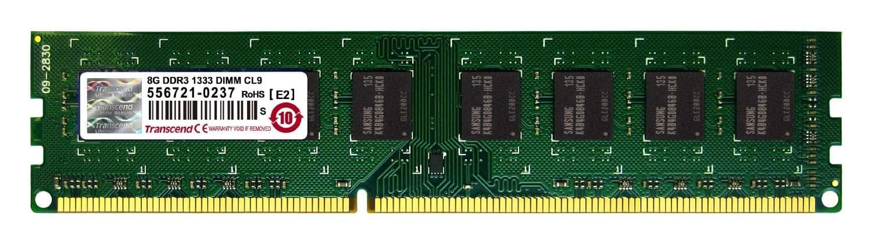Transcend 8Go DDR3-1333 MHz PC3-10600 TS1GLK64V3H (TS1GLK64V3H) - Achat / Vente Mémoire PC sur Cybertek.fr - 0