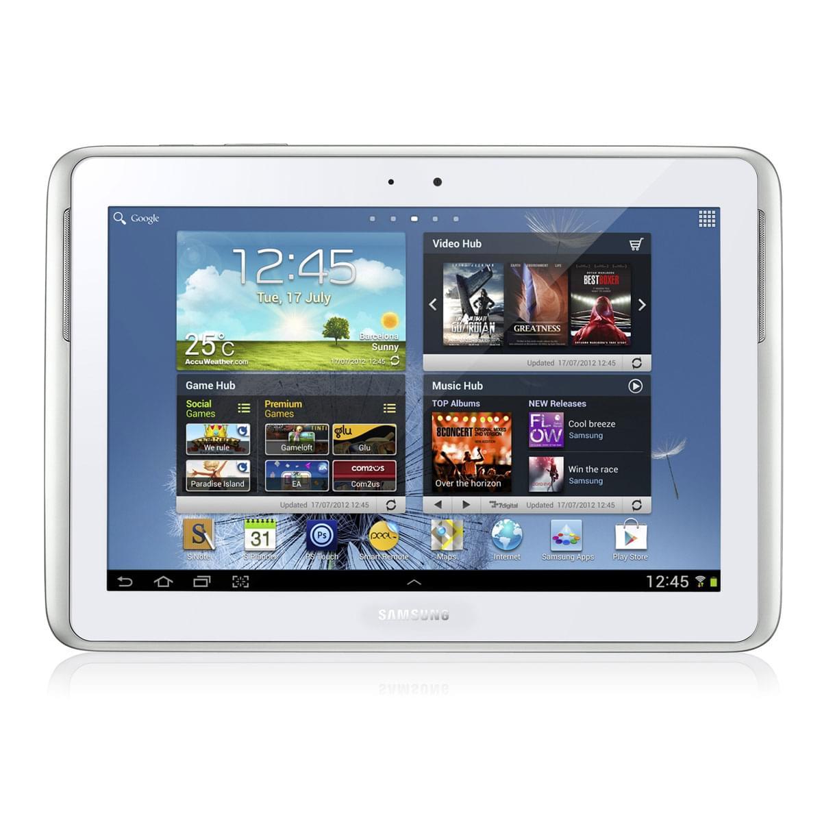 """Samsung Galaxy Note 10.1 N8010ZWAXEF -Blanc/16Go/10.1""""/ICS (GT-N8010ZWAXEF soldé) - Achat / Vente Tablette tactile sur Cybertek.fr - 0"""