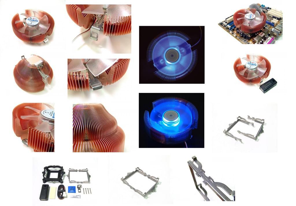 Zalman CNPS7500-CULED SK775/754/939/940/AM2 (CNPS7500-CULED) - Achat / Vente Ventilateur CPU sur Cybertek.fr - 0