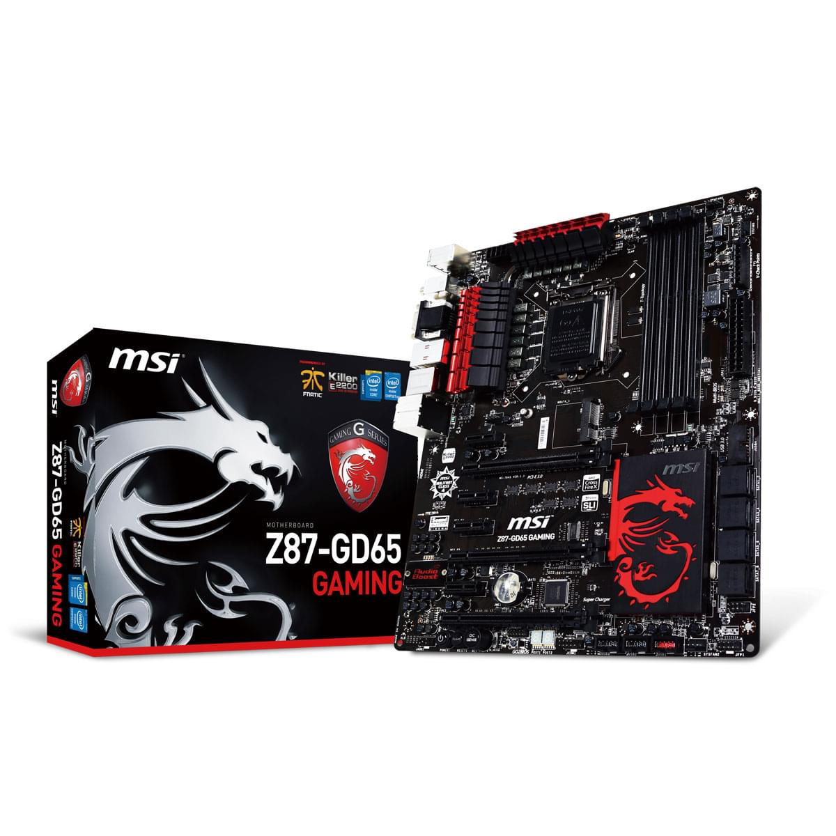 MSI Z87-GD65 Gaming (Z87-GD65 Gaming) - Achat / Vente Carte Mère sur Cybertek.fr - 0
