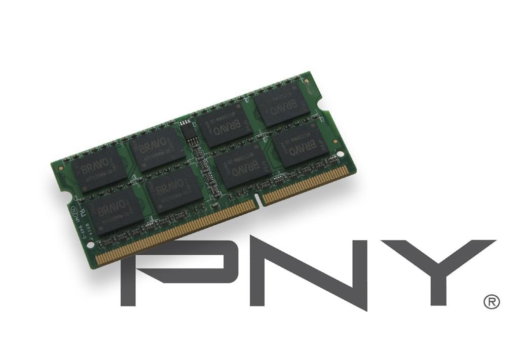 PNY SO-DIMM 2Go DDR3 1333 1.35V SOD2GBN10600/3L-SB SO-DDR3 - Mémoire PC portable - 0