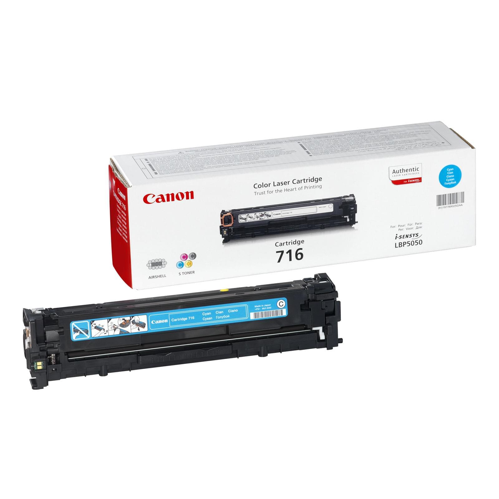 Canon Toner CRG 716 Cyan (1979B002) - Achat / Vente Consommable Imprimante sur Cybertek.fr - 0