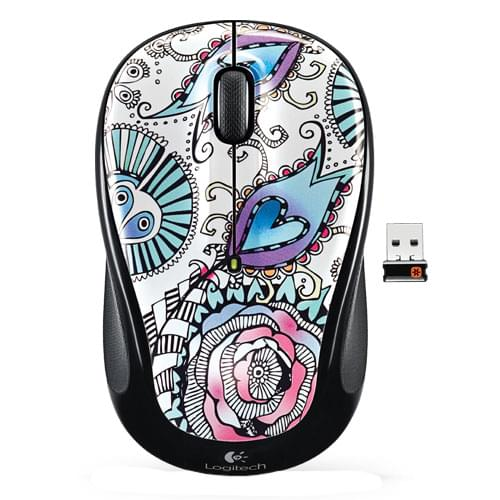 Logitech Souris PC Wireless Mouse M325 Floral Foray - 0