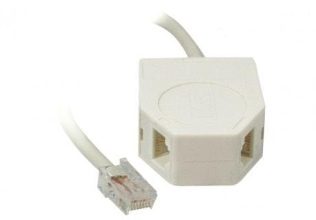 Doubleur téléphonique RJ45 - Connectique réseau - Cybertek.fr - 0