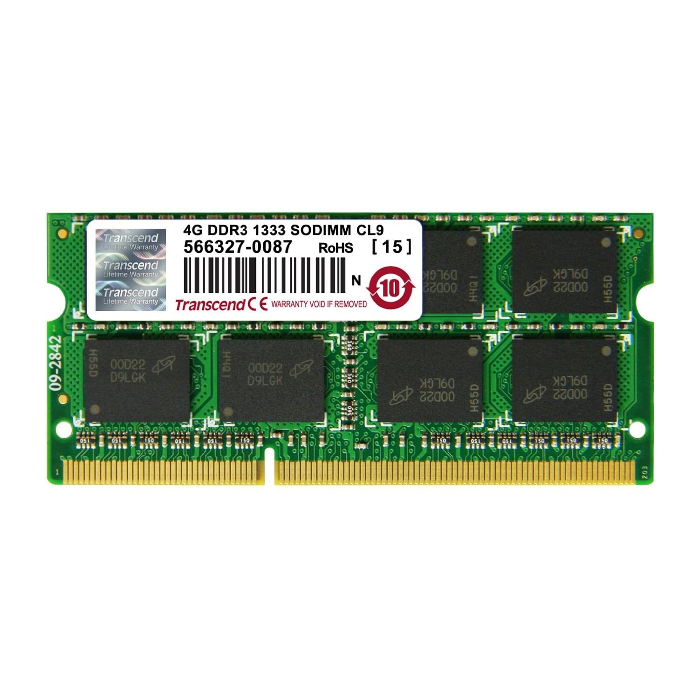 Transcend SO-DIMM 4Go DDR3 1333 CL9 2Rx8 JM1333KSN-4G - Mémoire PC portable - 0