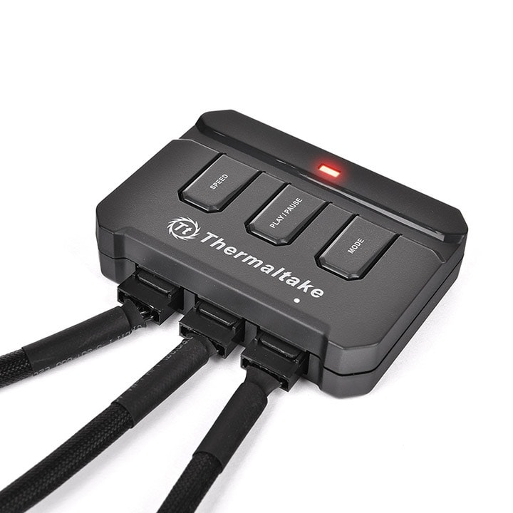 Thermaltake Pack x3 Riing 12 RGB LED + Contrôleur - Ventilateur boîtier - 4