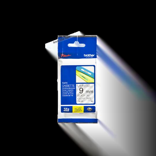 Ruban transparent Caractères Noirs 9mm - TZE121 pour imprimante  Brother - 0