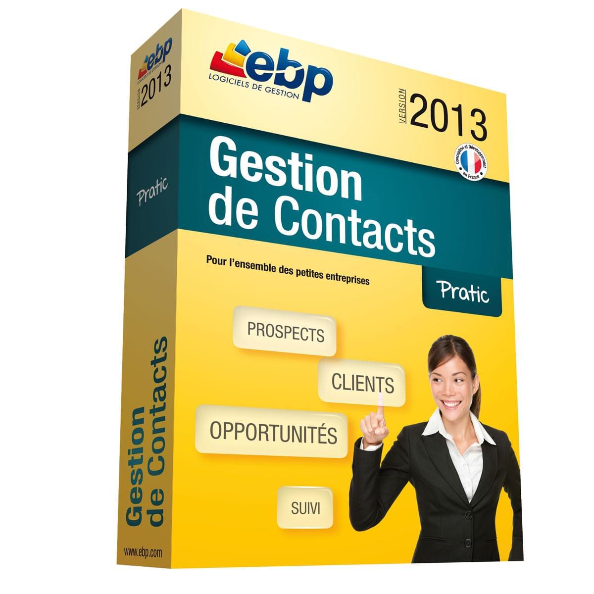 EBP Gestion de Contacts Pratic 2013 (1009E040FAA) - Achat / Vente Logiciel Application sur Cybertek.fr - 0