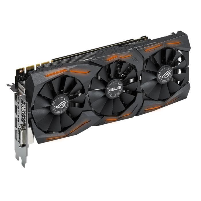 Asus GeForce STRIX-GTX1080-8G-GAMING (STRIX-GTX1080-8G-GAMING) - Achat / Vente Carte Graphique sur Cybertek.fr - 2