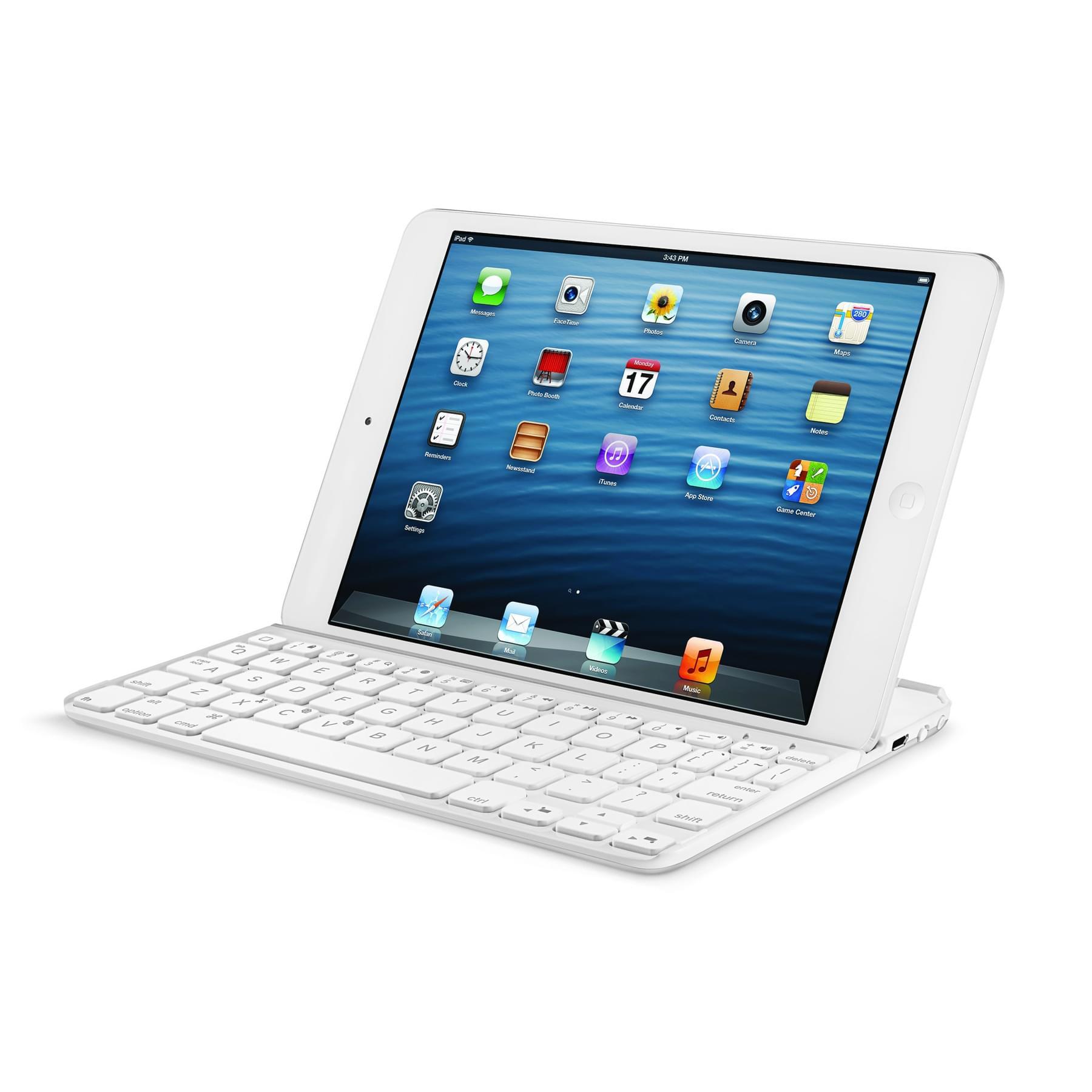 Etui Ultrathin Keyboard Cover Mini White - Accessoire tablette - 0