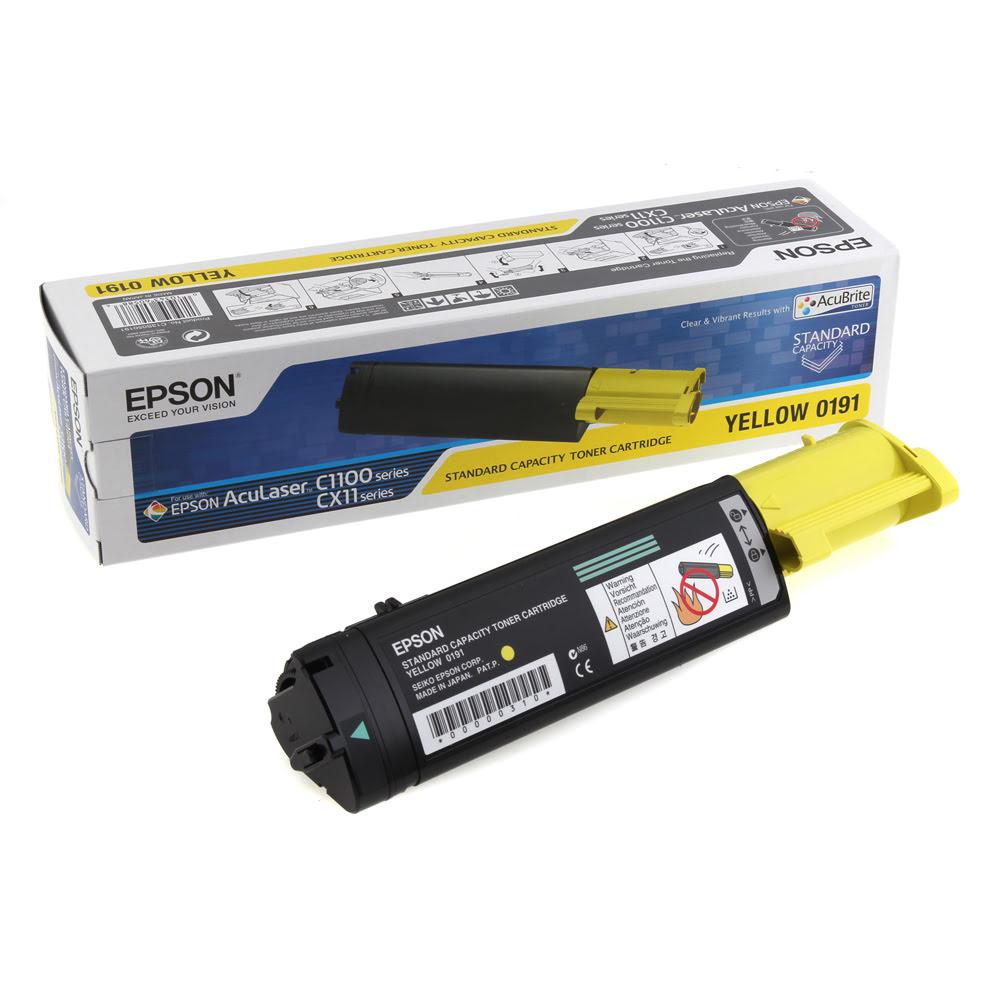 Toner C1100 S050191 Jaune pour imprimante Laser Epson - 0