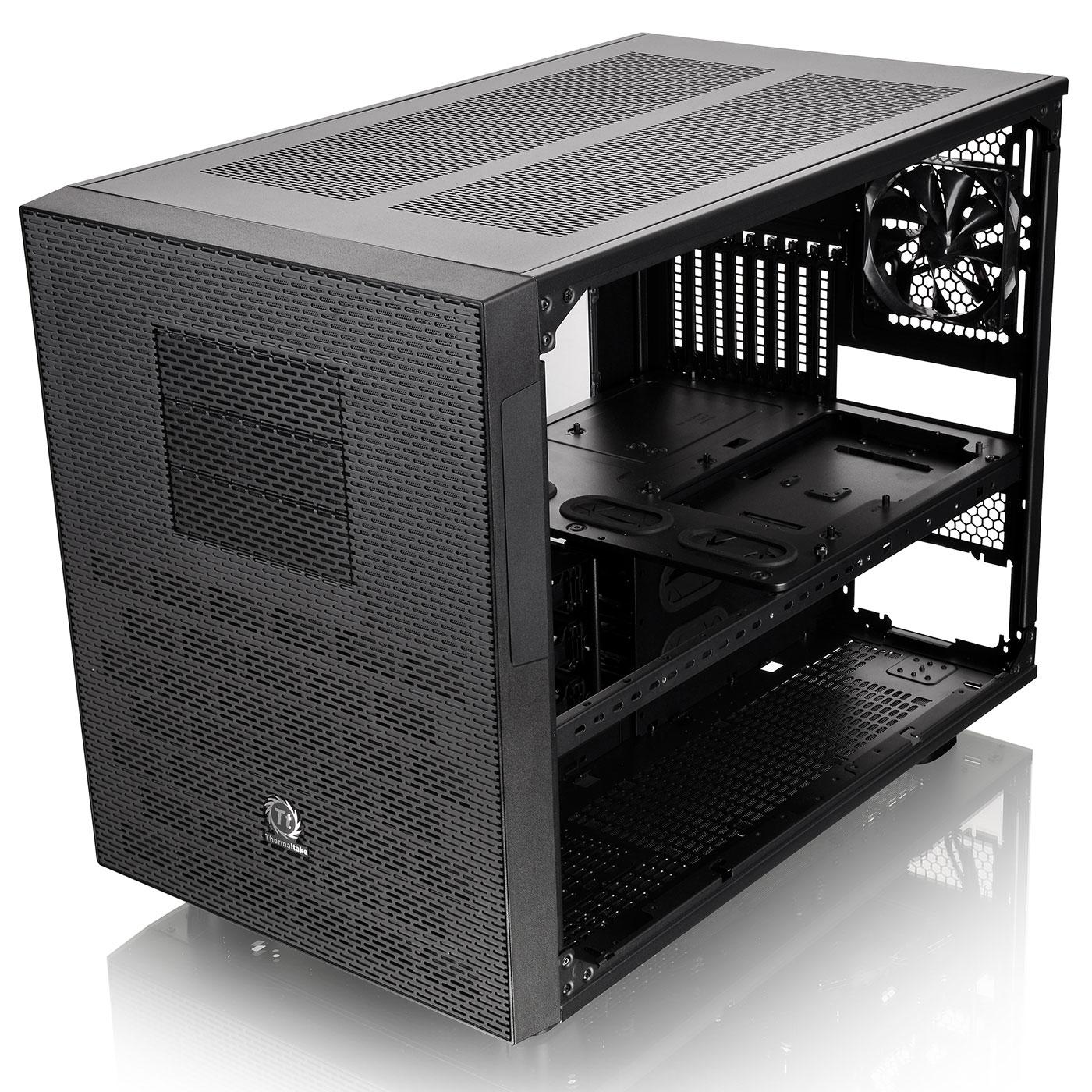 Thermaltake Cube/ss alim/E-ATX Noir - Boîtier PC Thermaltake - 3