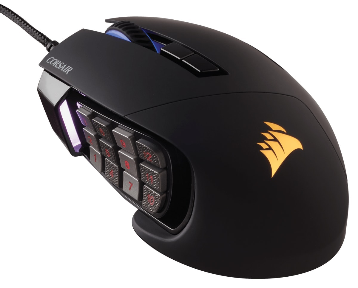 Corsair Scimitar Black RGB MOBA/MMO Gaming CH-9000231-EU - Souris PC - 0