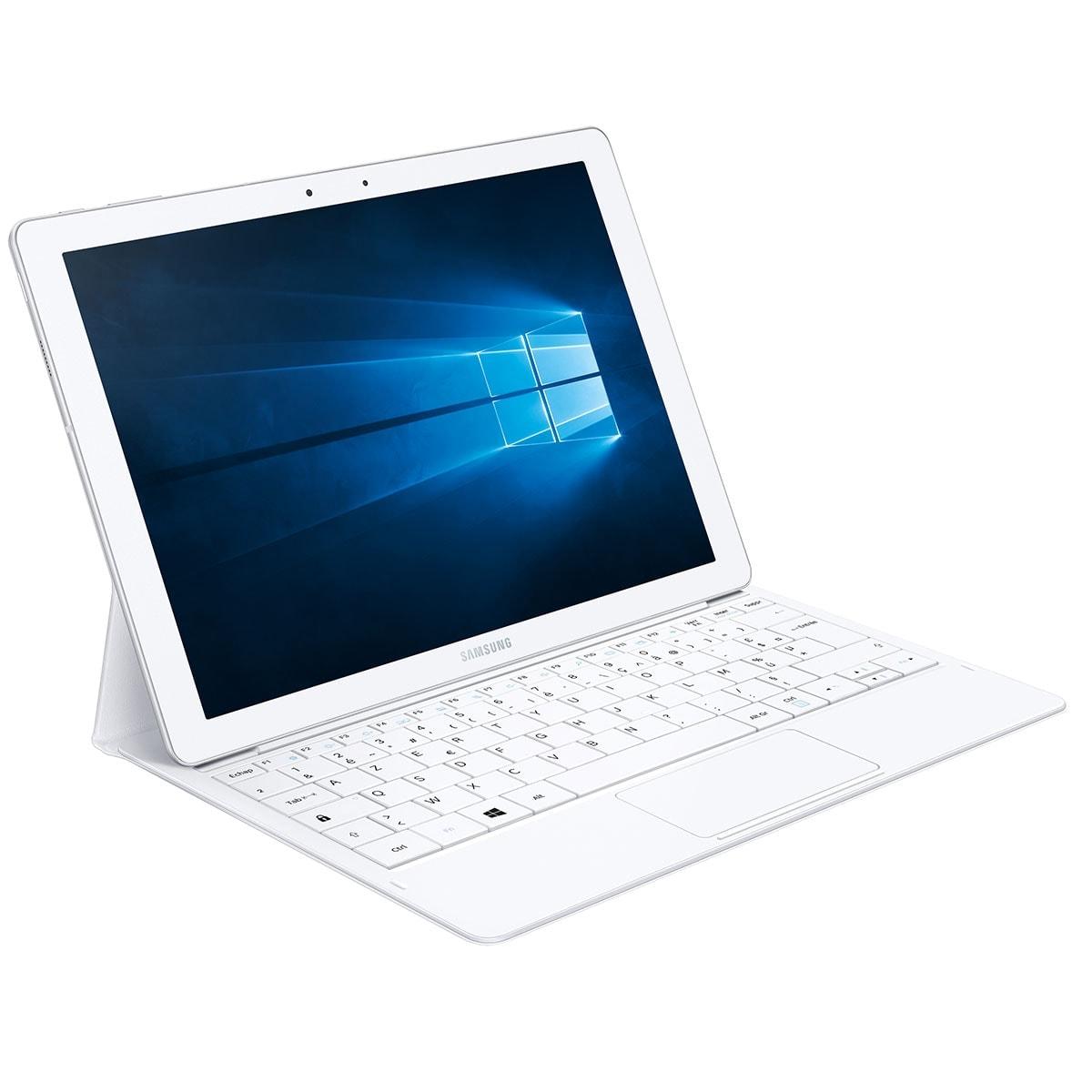 "Samsung Galaxy TabPro S W700 WH -M3-6Y30/4Go/128Go/12""/10 (SM-W700NZWAXEF) - Achat / Vente PC Portable sur Cybertek.fr - 0"