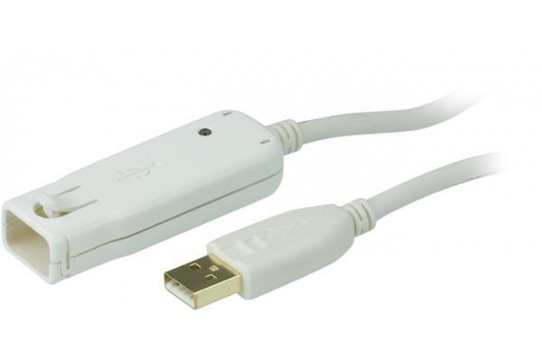 Aten Câble USB2.0 rallonge amplifiée Mâle-Femelle 12m (UE2120) - Achat / Vente Connectique PC sur Cybertek.fr - 0