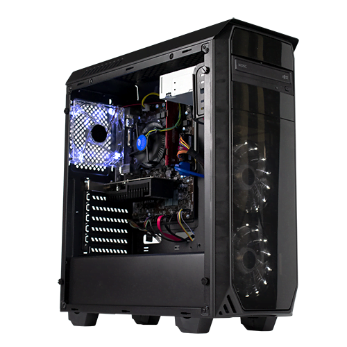 PC Gamer Cybertek SURICATE <sup>v3</sup> Processeur Intel Core i3 8100 - Corsair 8Go DDR4 - MSI GT 1030 OC 2Go - SSD 120Go Disque dur Seagate 1To