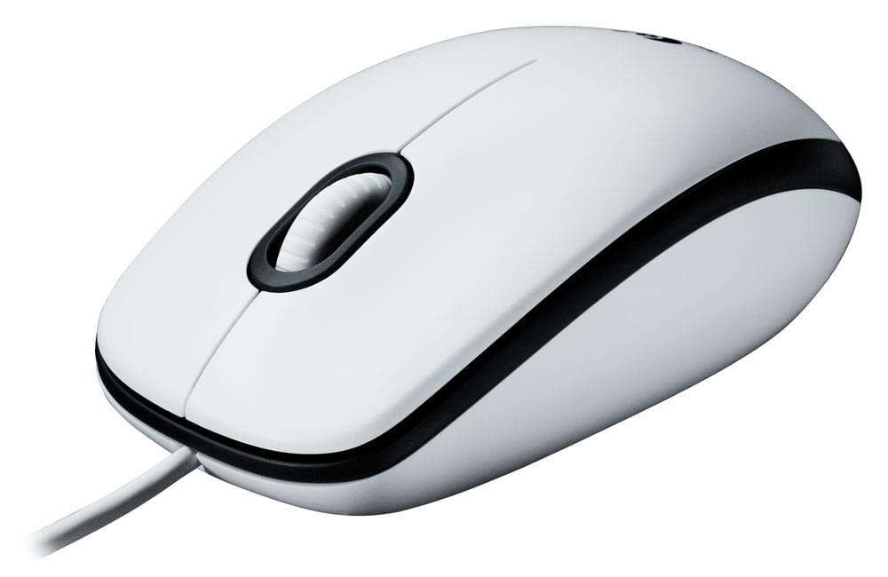 Logitech Mouse M100 White (910-001603) - Achat / Vente Souris PC sur Cybertek.fr - 0