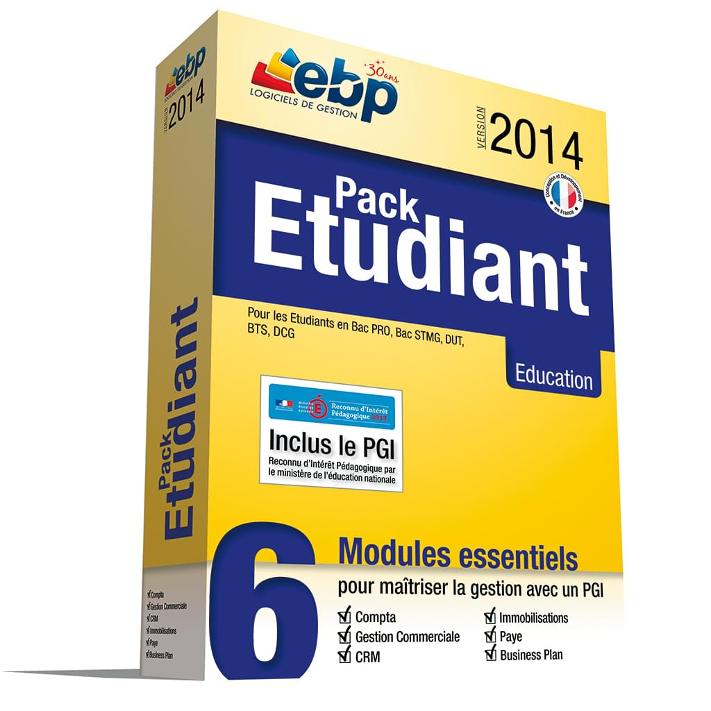 EBP Pack Etudiant 2014 (1114R050FAE) - Achat / Vente Logiciel Application sur Cybertek.fr - 0
