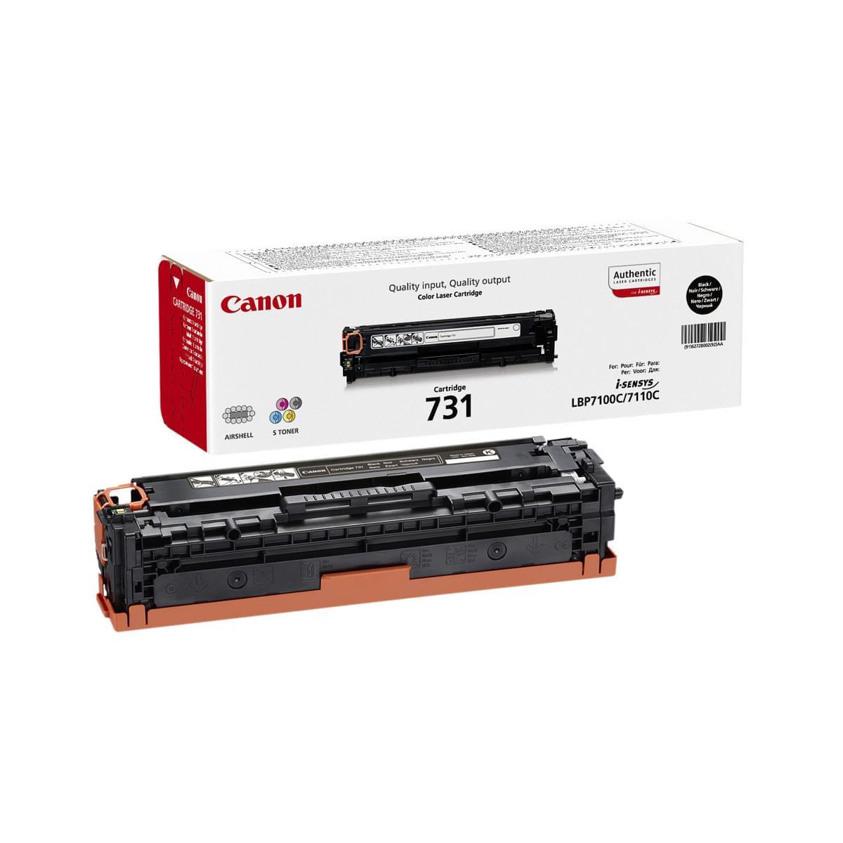 Toner Noir 731 BK 6272B002 pour imprimante Laser Canon - 0
