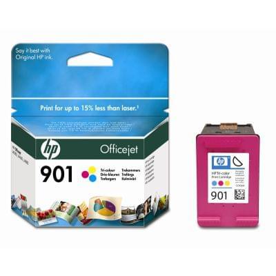 Cartouche 901 Couleur - CC656AE pour imprimante Jet d'encre HP - 0