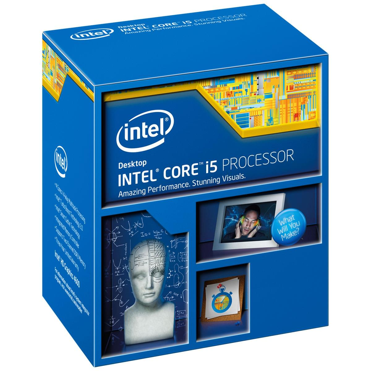 Intel Core i5 4670 - 3.4GHz - Processeur Intel - Cybertek.fr - 0