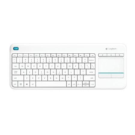 Logitech Wireless Touch K400 Plus White - Clavier PC Logitech - 0