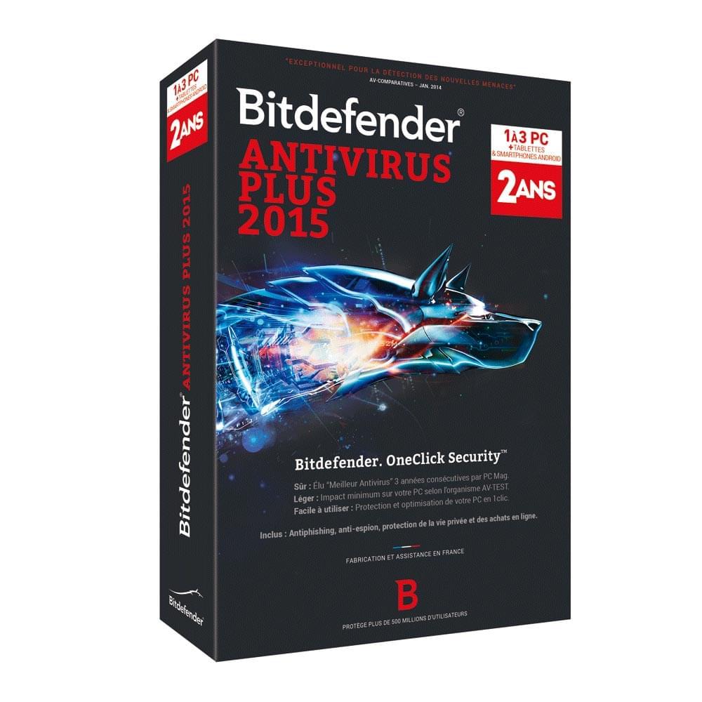 Bitdefender Antivirus Plus 2015 (B-FBDAVP5X2P003) - Achat / Vente Logiciel sécurité sur Cybertek.fr - 0