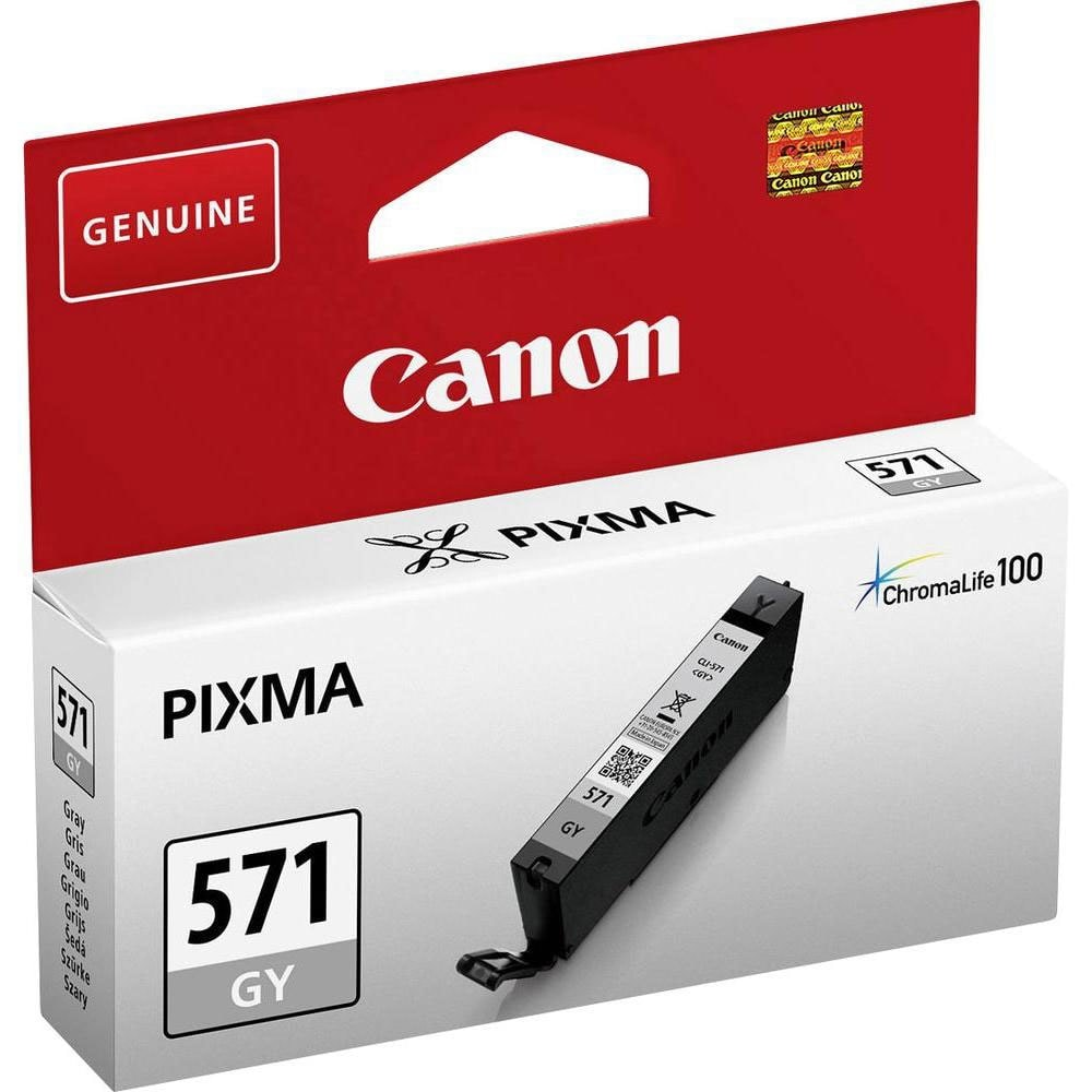 Canon Cartouche CLI-571 GY Gris (0389C001) - Achat / Vente Consommable Imprimante sur Cybertek.fr - 0