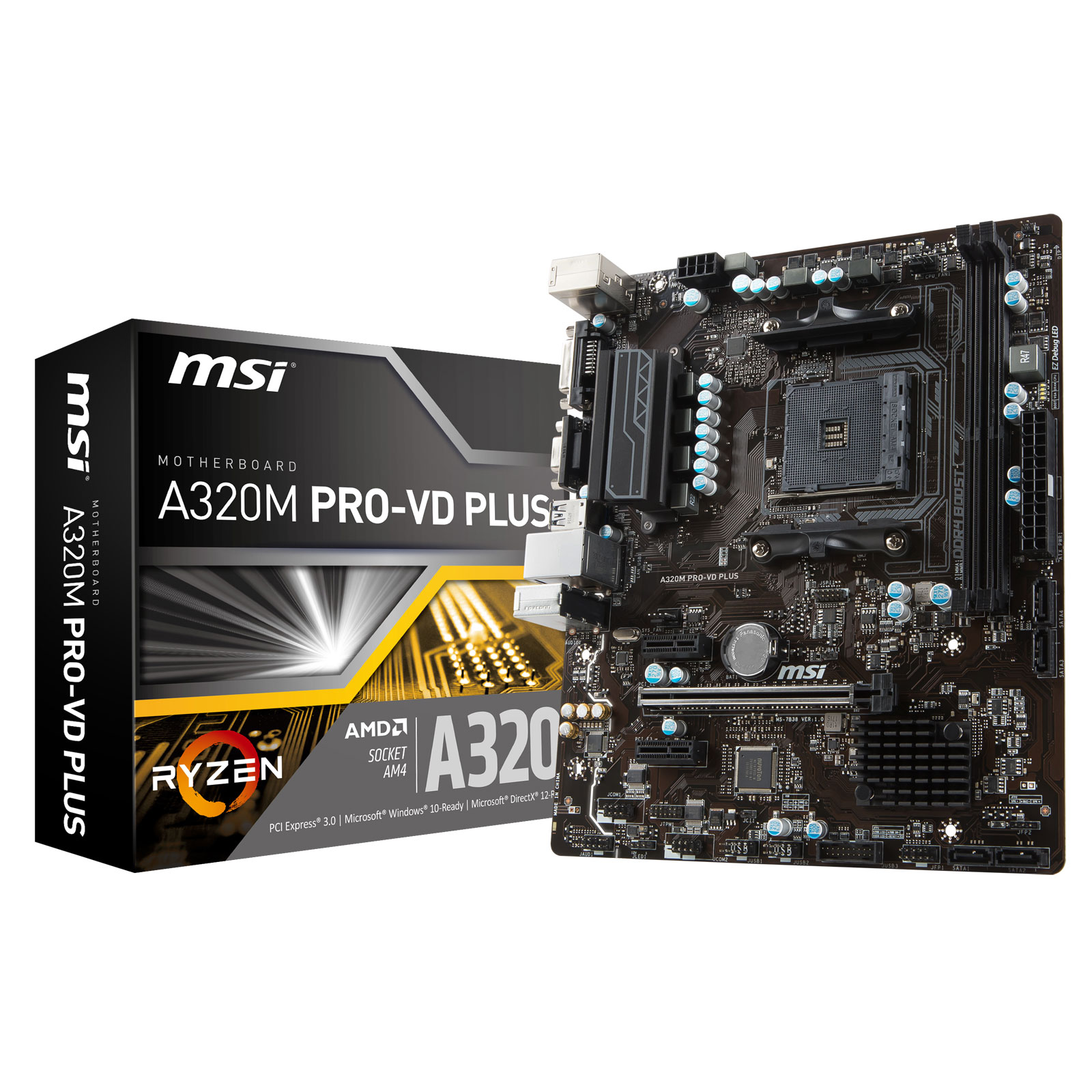 MSI A320M PRO-VD PLUS Micro-ATX DDR4 - Carte mère MSI - 0