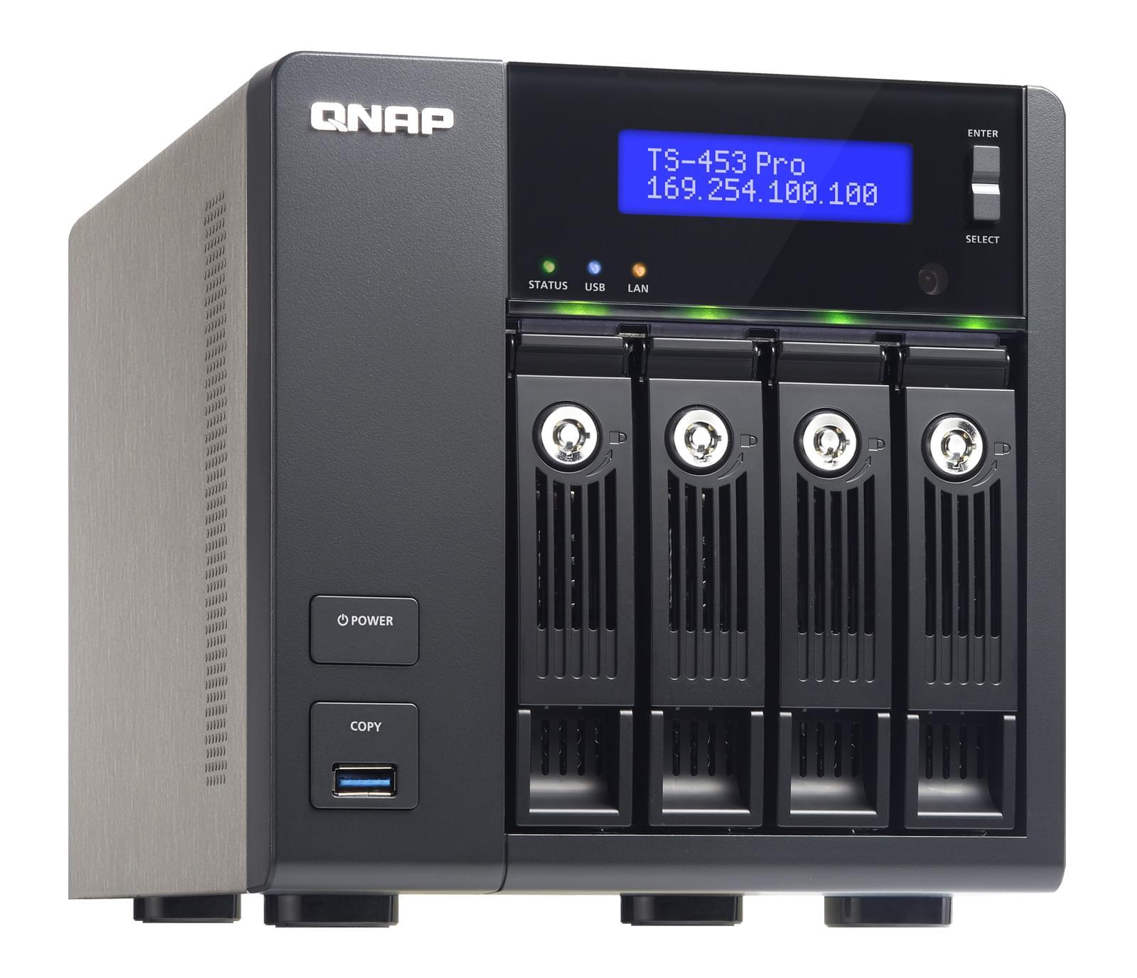 Qnap TS-453 PRO (TS-453 PRO (2GB RAM)) - Achat / Vente Serveur NAS sur Cybertek.fr - 0