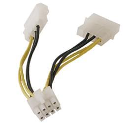 Câble alim. carte Graphique molex vers 6,8 broches - Connectique PC - 0